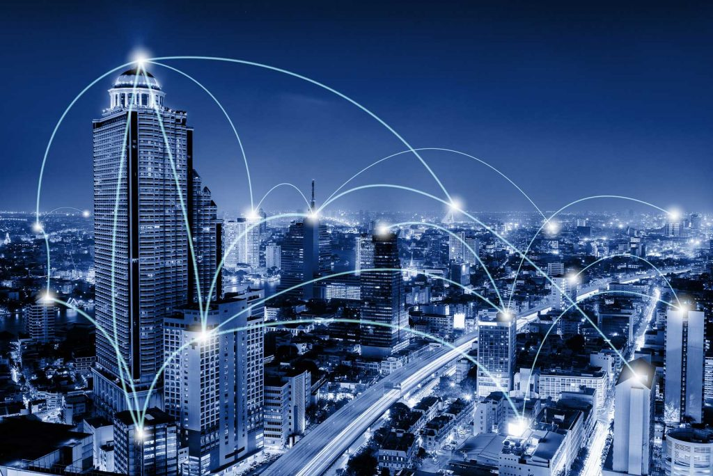 Telecommunications and 5G computing concept
